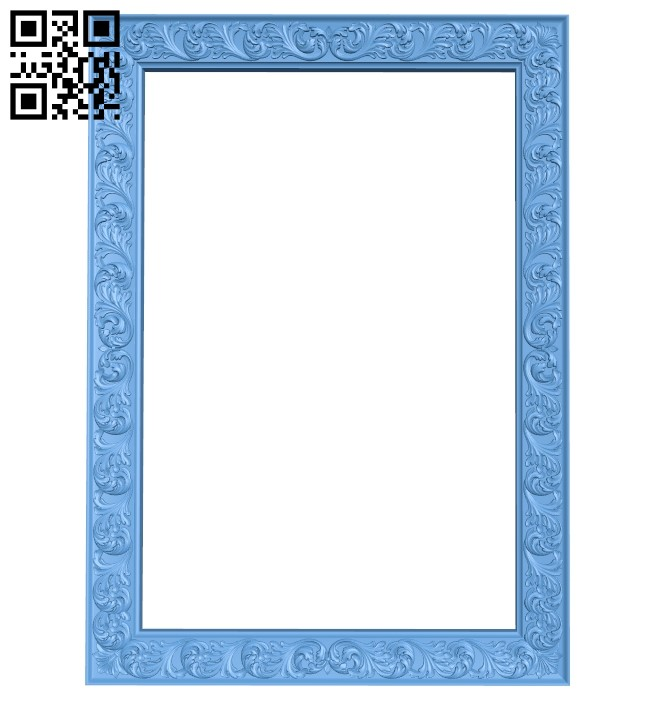 Picture frame or mirror A006321 download free stl files 3d model for CNC wood carving