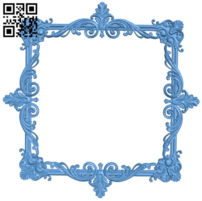 Picture frame or mirror A006324 download free stl files 3d model for CNC wood carving