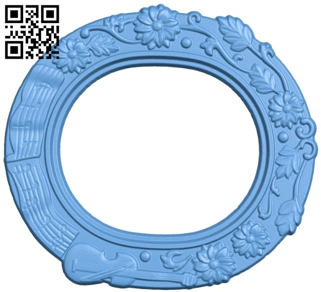 Picture frame or mirror A006325 download free stl files 3d model for CNC wood carving