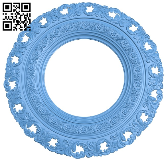 Picture frame or mirror A006326 download free stl files 3d model for CNC wood carving