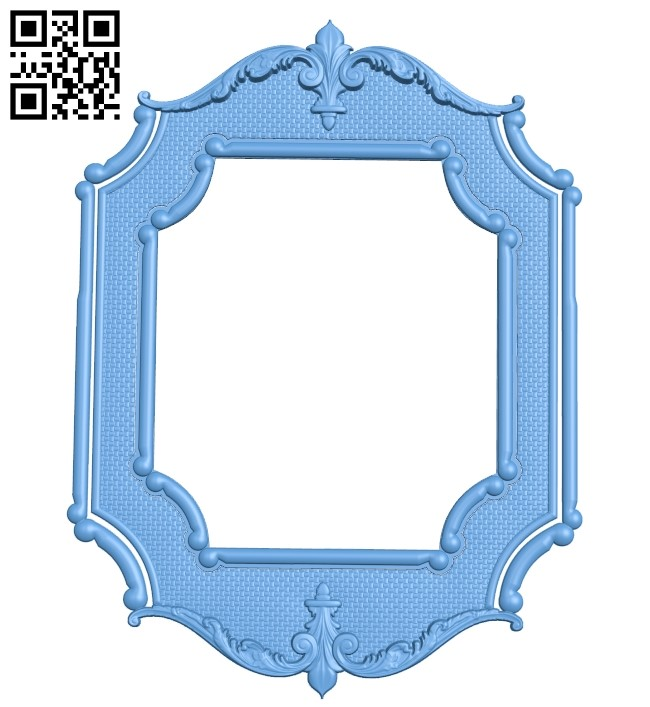 Picture frame or mirror A006327 download free stl files 3d model for CNC wood carving