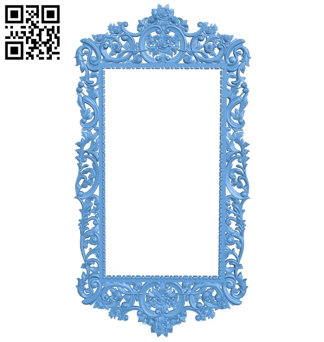 Picture frame or mirror A006328 download free stl files 3d model for CNC wood carving