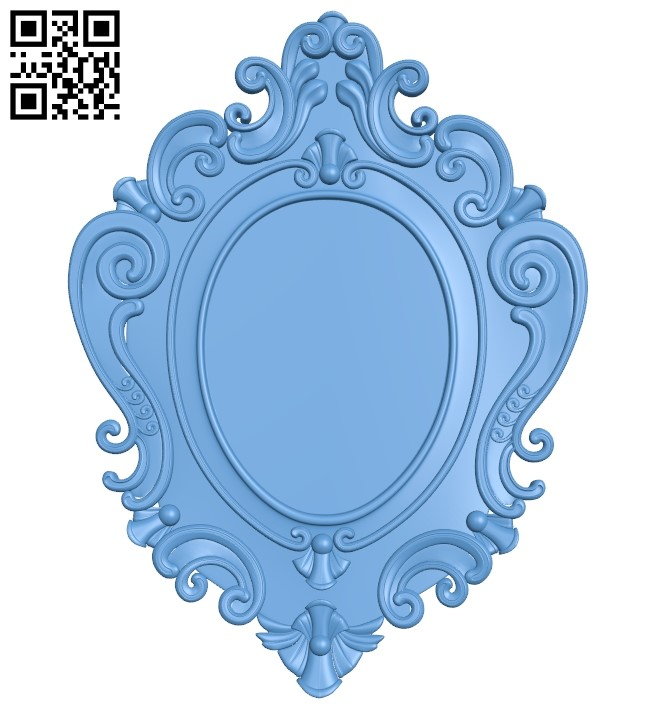 Picture frame or mirror A006329 download free stl files 3d model for CNC wood carving