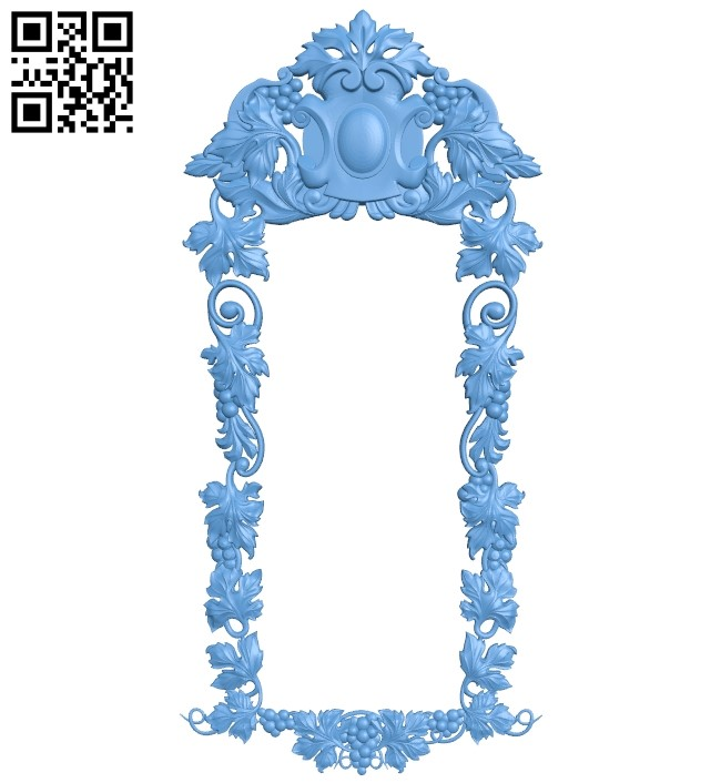 Picture frame or mirror A006370 download free stl files 3d model for CNC wood carving