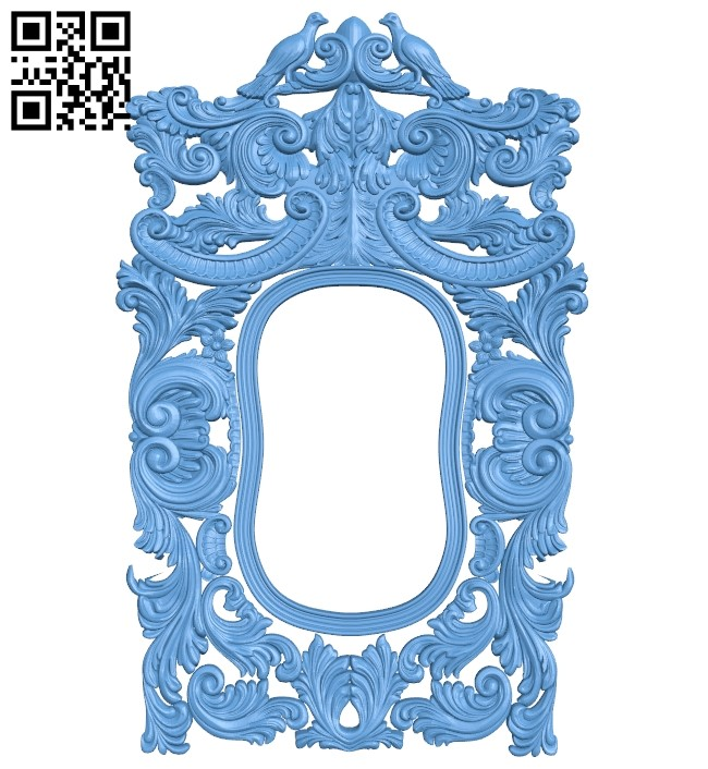 Picture frame or mirror A006371 download free stl files 3d model for CNC wood carving