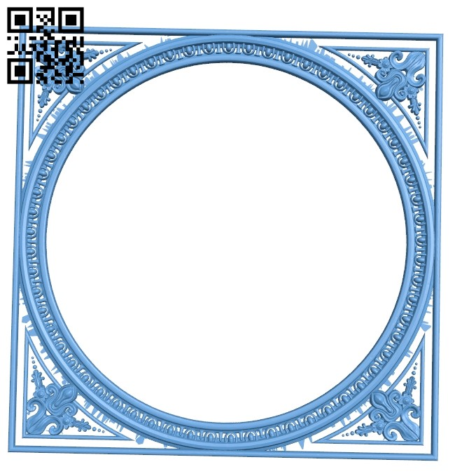 Picture frame or mirror A006430 download free stl files 3d model for CNC wood carving