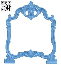 Picture frame or mirror A006434 download free stl files 3d model for CNC wood carving