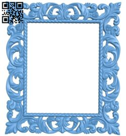 Picture frame or mirror A006437 download free stl files 3d model for CNC wood carving
