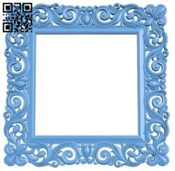 Picture frame or mirror A006438 download free stl files 3d model for CNC wood carving