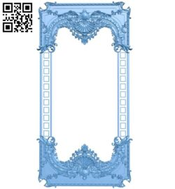 Picture frame or mirror A006439 download free stl files 3d model for CNC wood carving