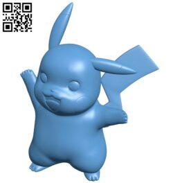 Pikachu – pokemon B009470 file obj free download 3D Model for CNC and 3d printer