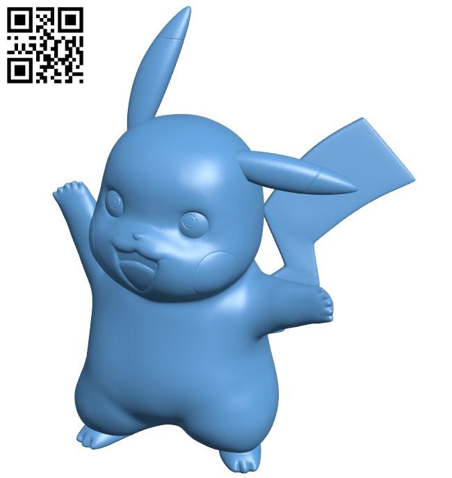 Pikachu - pokemon B009470 file obj free download 3D Model for CNC and 3d printer