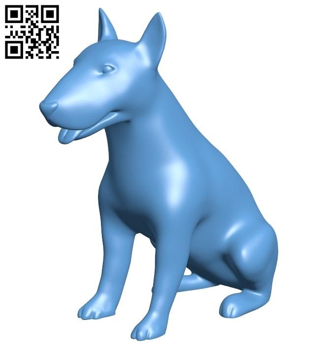 Pitbull figurine - dog B009380 file obj free download 3D Model for CNC and 3d printer