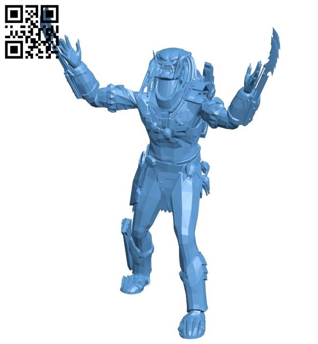 Predator - Space monster B009384 file obj free download 3D Model for CNC and 3d printer