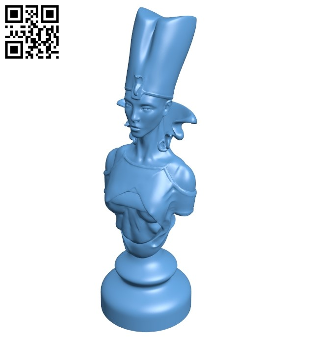 Queen - chess B009471 file obj free download 3D Model for CNC and 3d printer