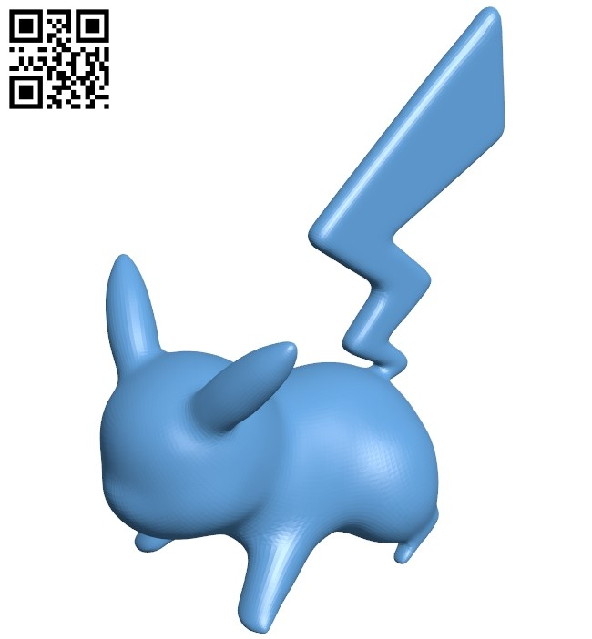 Quick attack pikachu B009385 file obj free download 3D Model for CNC and 3d printer