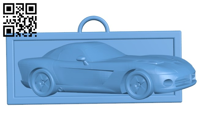 Raised picture dodge viper B009390 file obj free download 3D Model for CNC and 3d printer