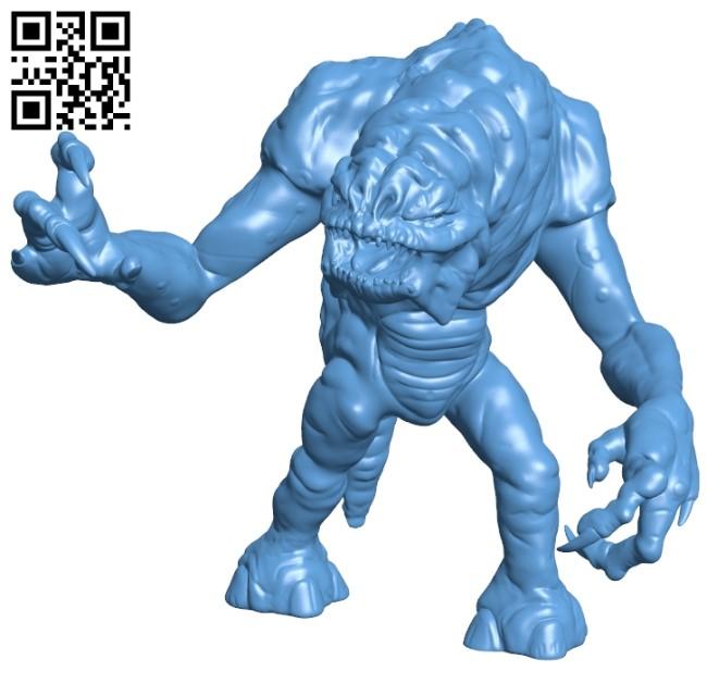 Rancor B009382 file obj free download 3D Model for CNC and 3d printer