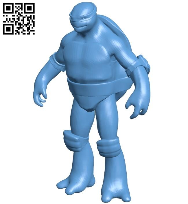 Raph TMNT - ninja B009391 file obj free download 3D Model for CNC and 3d printer