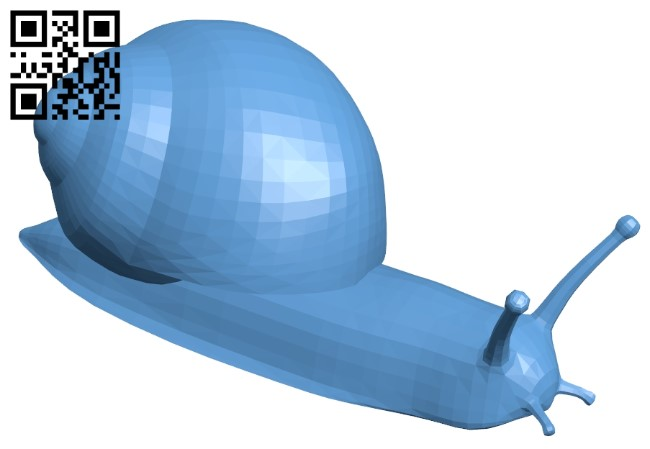 Realistic snail B009399 file obj free download 3D Model for CNC and 3d printer