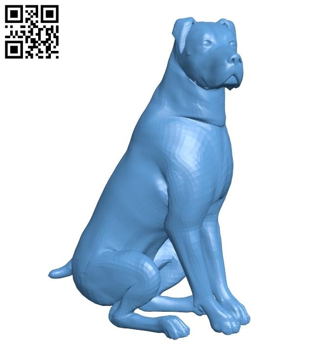 Rottweiler - dog B009394 file obj free download 3D Model for CNC and 3d printer