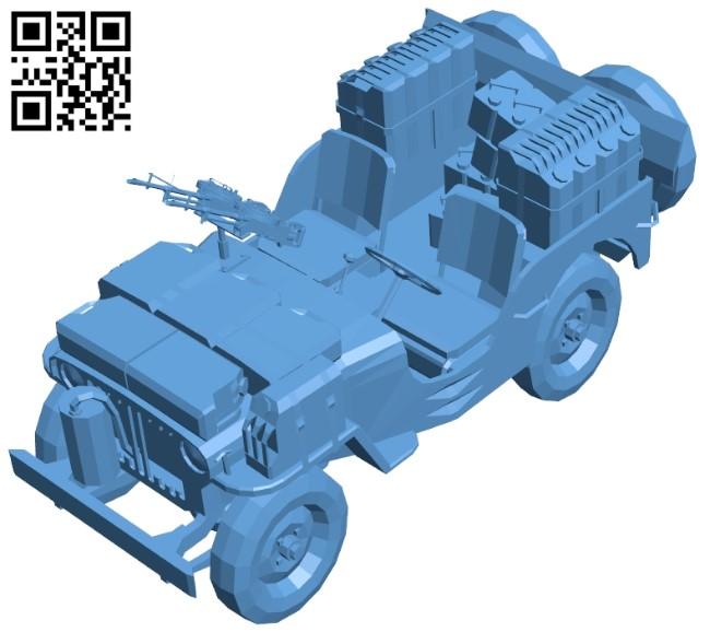 Sas jeep - car B009398 file obj free download 3D Model for CNC and 3d printer