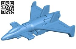 Sci-fi bomber B009508 file stl free download 3D Model for CNC and 3d printer