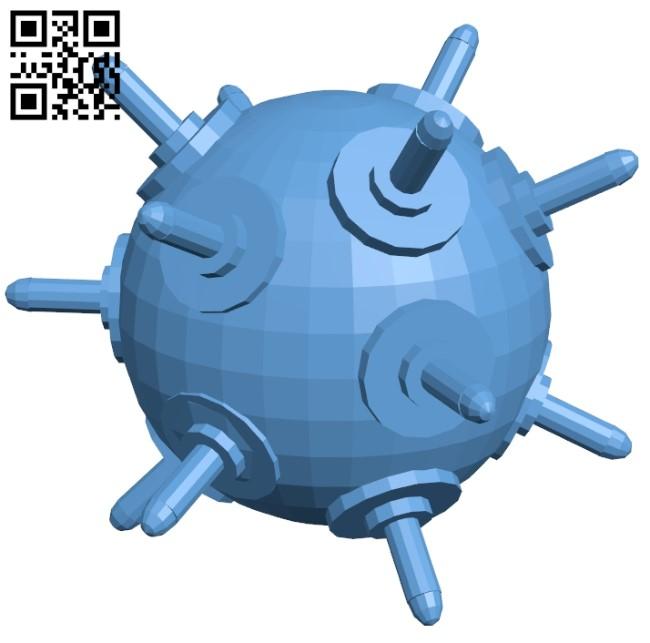 Sea mine - bom B009418 file obj free download 3D Model for CNC and 3d printer