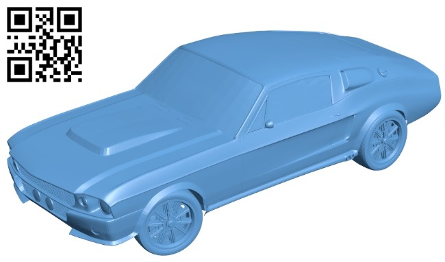 Shelby eleanor - car B009415 file obj free download 3D Model for CNC and 3d printer