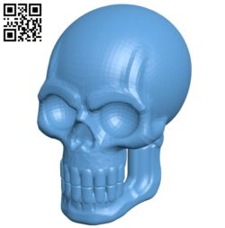 Skull with Jaw B009526 file stl free download 3D Model for CNC and 3d printer