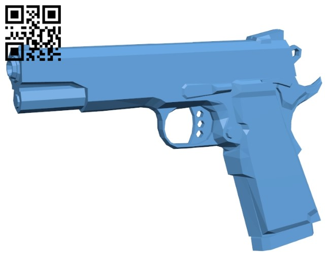 Smith and Wesson B009426 file obj free download 3D Model for CNC and 3d printer