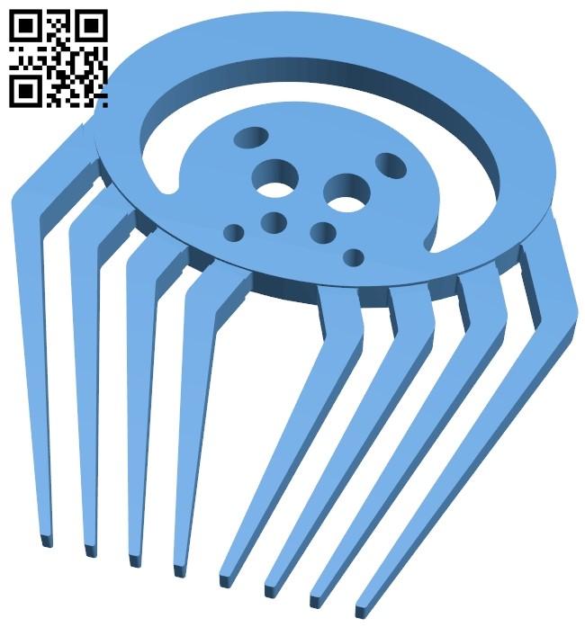 Spider comb B009392 file obj free download 3D Model for CNC and 3d printer