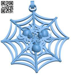 Spider pendant B009452 file obj free download 3D Model for CNC and 3d printer