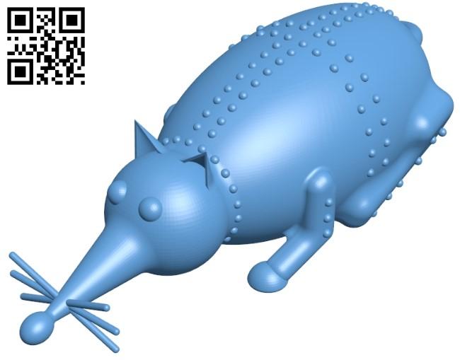 Steel rat B009407 file obj free download 3D Model for CNC and 3d printer