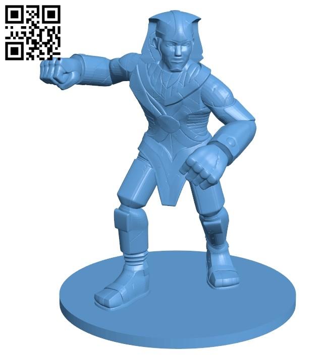 Stone Golem B009405 file obj free download 3D Model for CNC and 3d printer