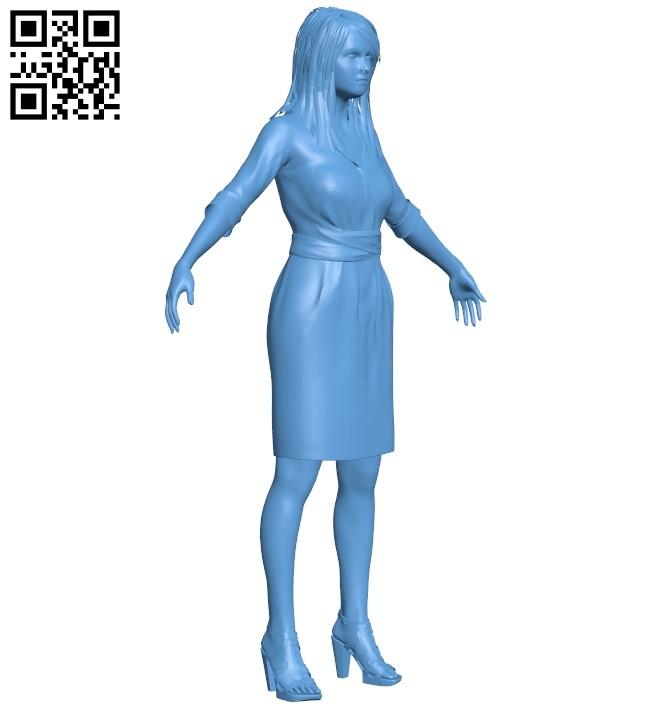 Student girl B009455 file obj free download 3D Model for CNC and 3d printer