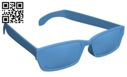 Stylish glasses B009463 file obj free download 3D Model for CNC and 3d printer
