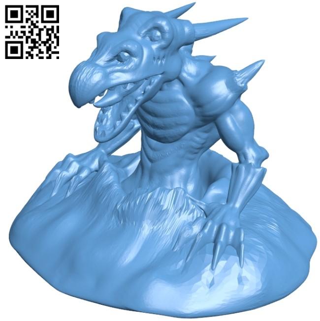 Sub Dragon B009413 file obj free download 3D Model for CNC and 3d printer