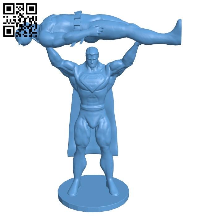 Superman vs Batman B009422 file obj free download 3D Model for CNC and 3d printer