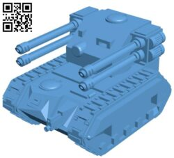 Tank Space artillery B009440 file obj free download 3D Model for CNC and 3d printer