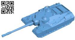 Tank T95 B009500 file stl free download 3D Model for CNC and 3d printer