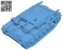 Tank stug 3 B009487 file stl free download 3D Model for CNC and 3d printer
