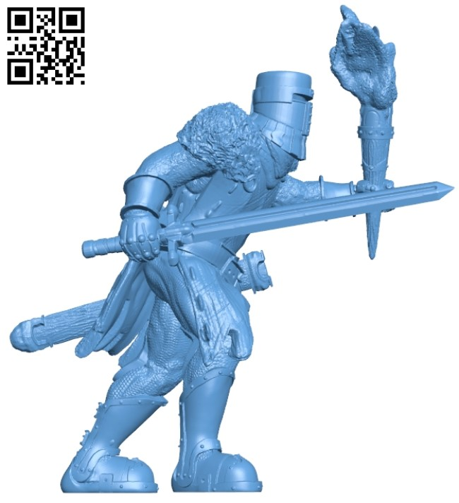 Templar of the lonely flame B009450 file obj free download 3D Model for CNC and 3d printer