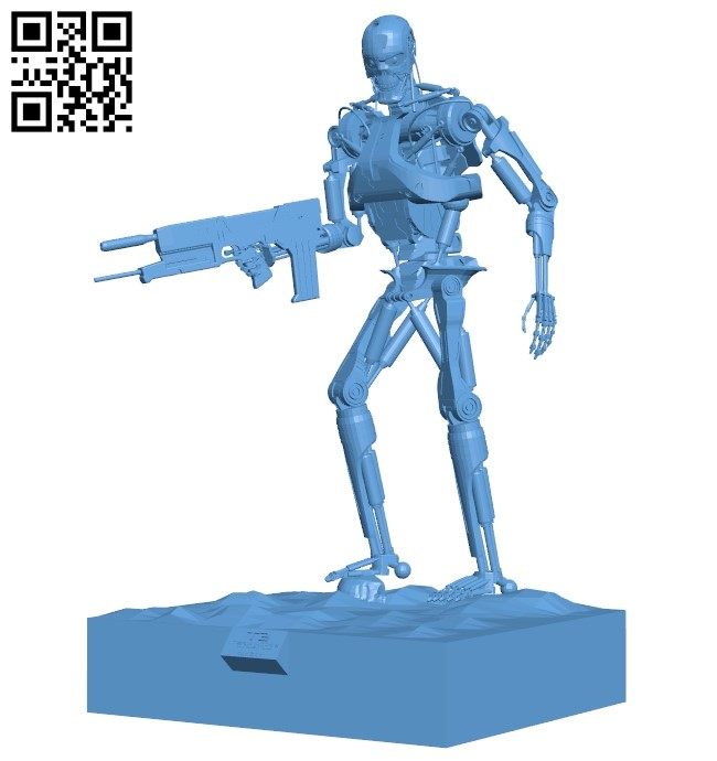 Terminator robot T2 B009433 file obj free download 3D Model for CNC and 3d printer