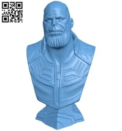 Thanos bust B009436 file obj free download 3D Model for CNC and 3d printer