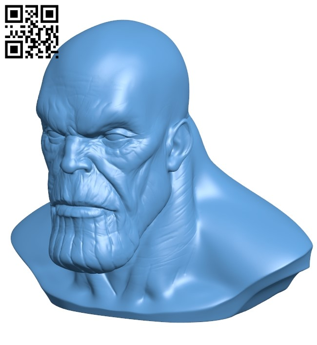 Thanos bust - superman B009522 file stl free download 3D Model for CNC and 3d printer