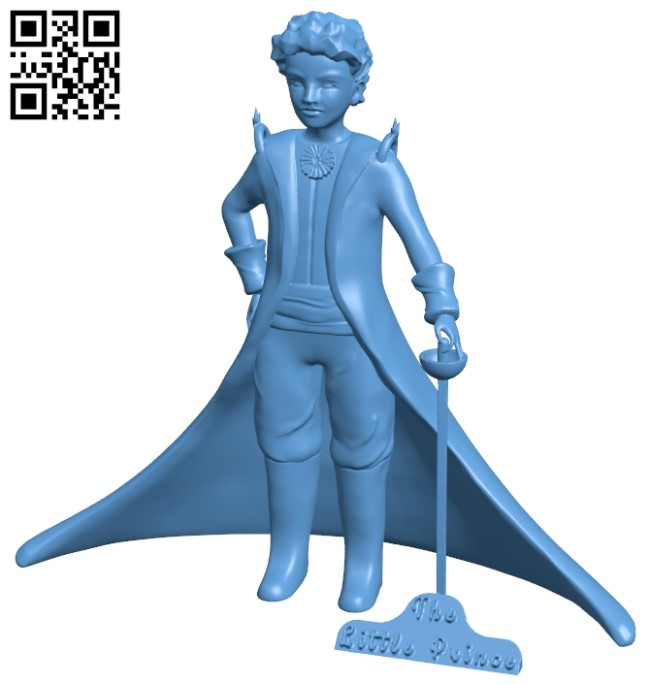 The Little Prince B009495 file stl free download 3D Model for CNC and 3d printer