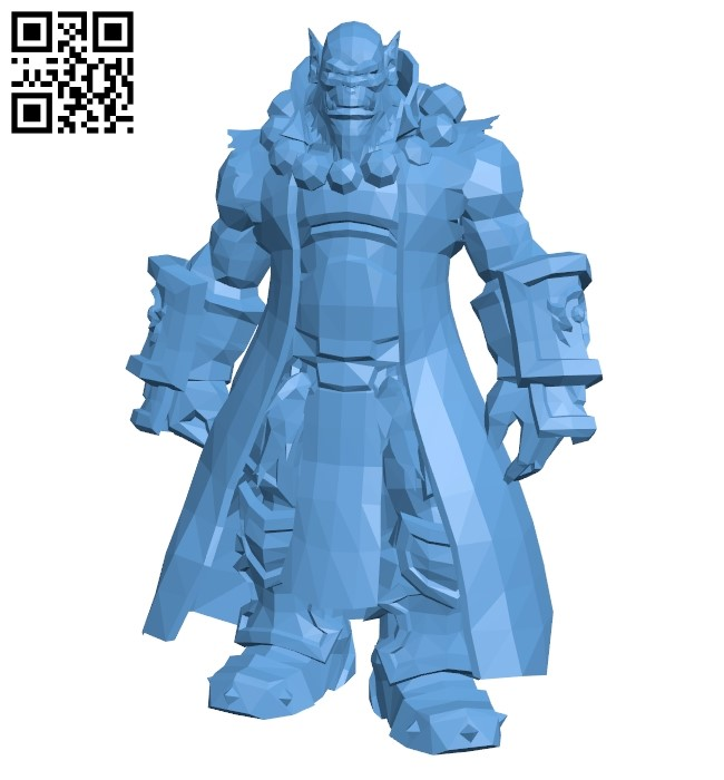Thrall Word of Warcraft B009435 file obj free download 3D Model for CNC and 3d printer