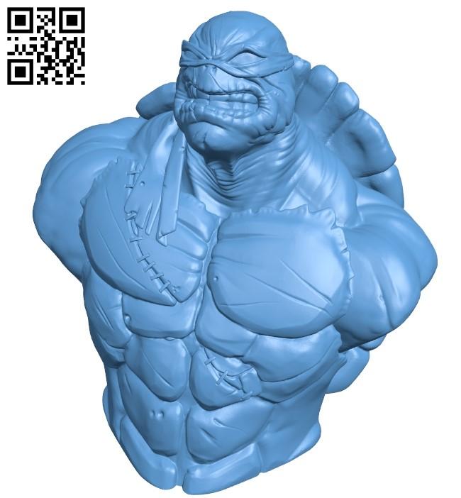 Tmnt bust - ninja B009444 file obj free download 3D Model for CNC and 3d printer