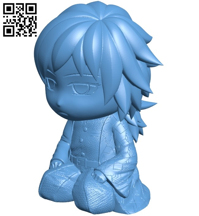 Tomioka giyuu B009445 file obj free download 3D Model for CNC and 3d printer